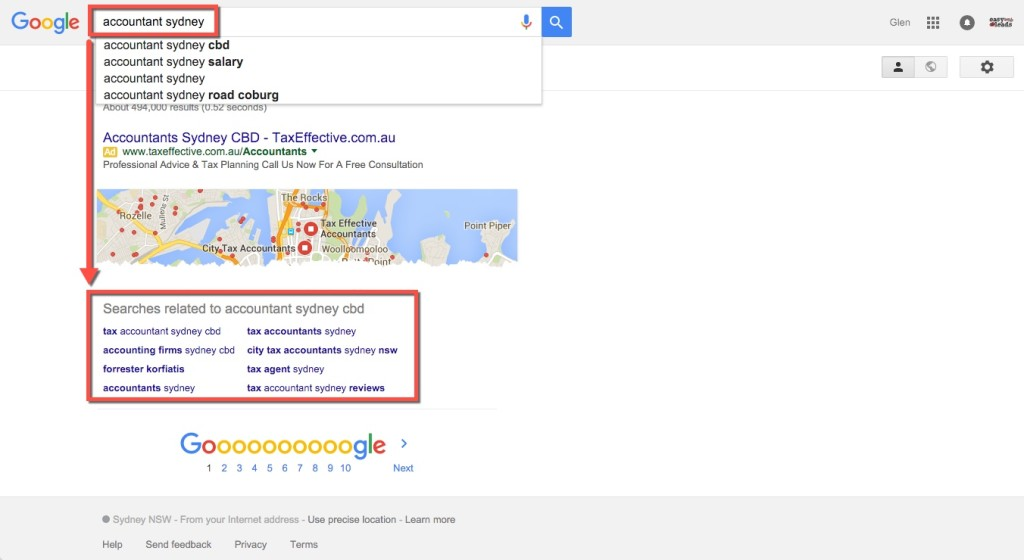 Similar SEO search results